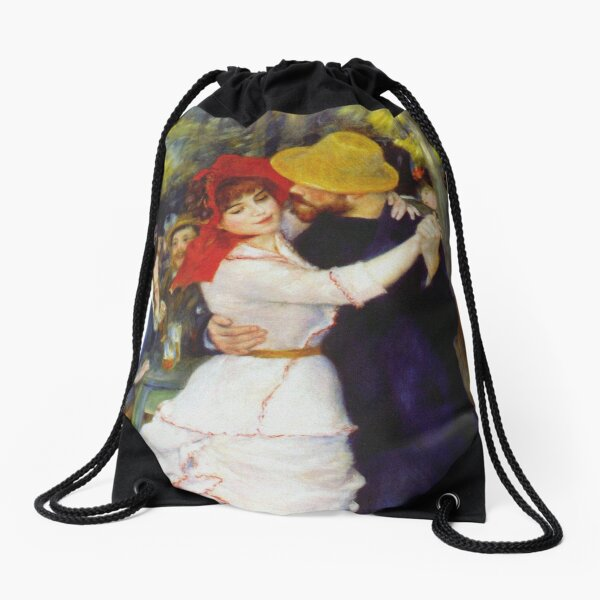 Auguste Renoir - Dance At Bougival 1883 Drawstring Bag
