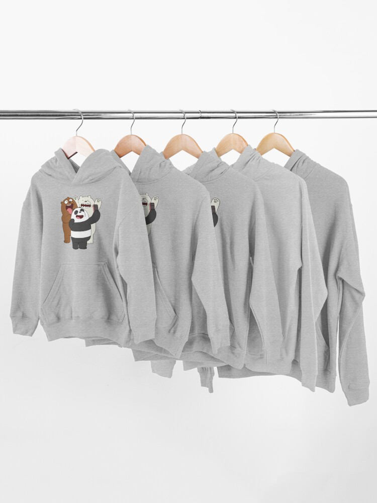 Alternate view of We Bare Bears Kids Pullover Hoodie