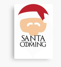 Santa is Coming 2 - Game of Thrones Canvas Print