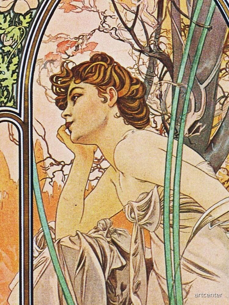 Alphonse Mucha - Evening Reverie by artcenter
