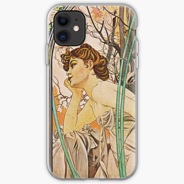Alphonse Mucha - Evening Reverie iPhone Soft Case