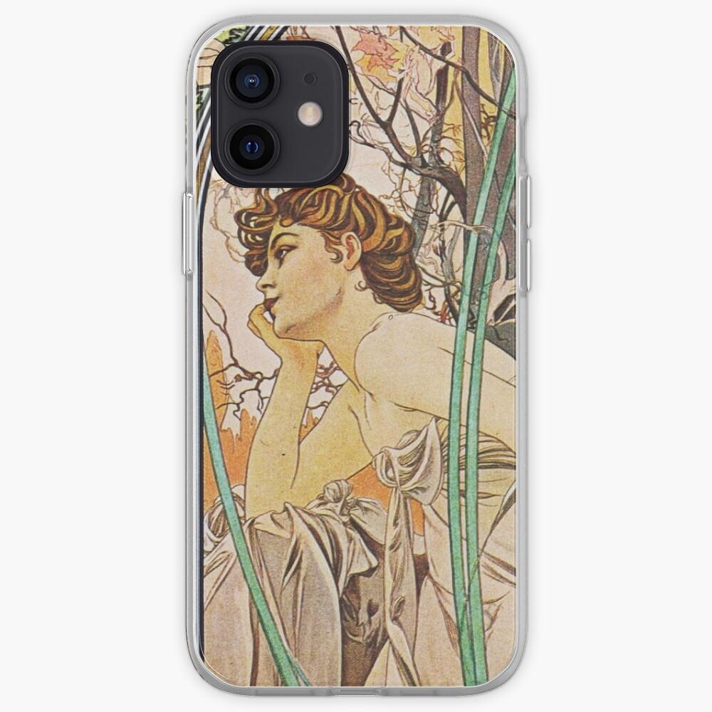Alphonse Mucha - Evening Reverie iPhone Case & Cover