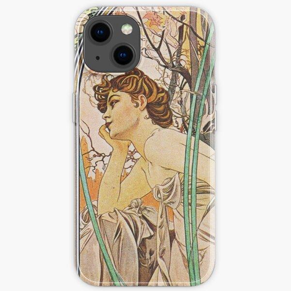 Alphonse Mucha - Evening Reverie iPhone Soft Case
