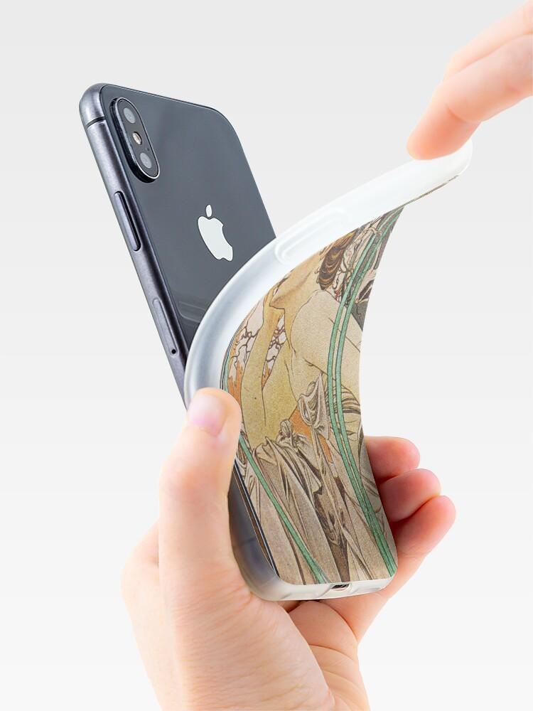 Alternate view of Alphonse Mucha - Evening Reverie iPhone Case & Cover