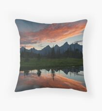 Schwabacher Landing - Grand Teton National Park, Wyoming Throw Pillow