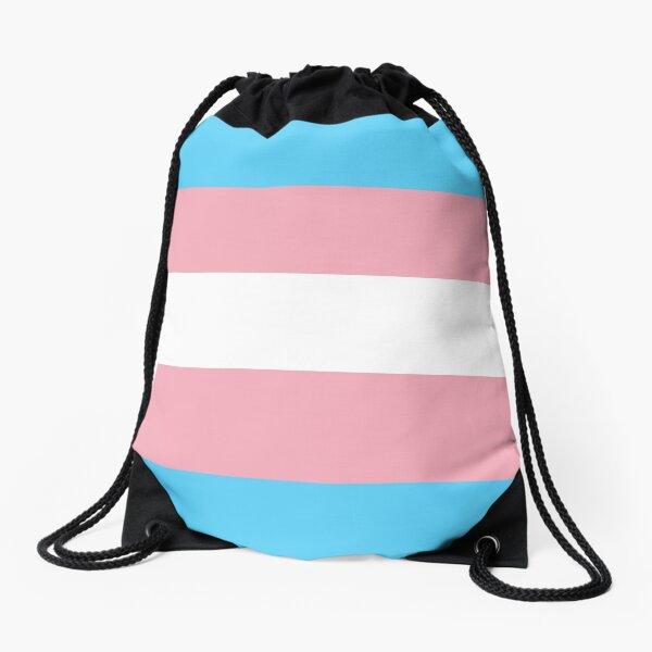 leo • theo | Trans flag Drawstring Bag