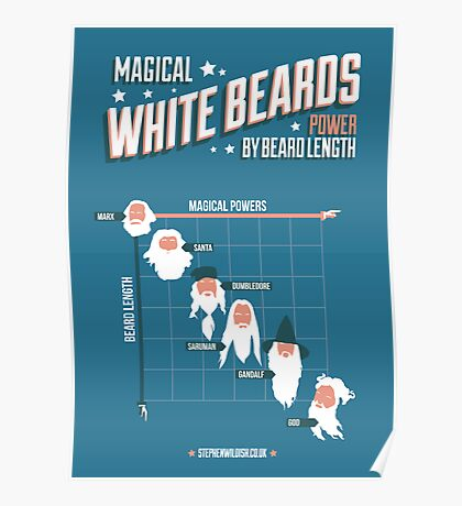 Magical White Beards Poster