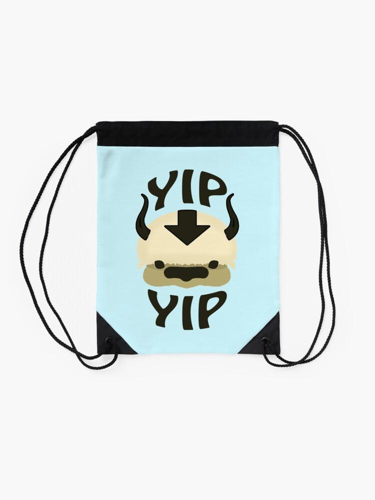 Alternate view of YIP YIP APPA! Drawstring Bag