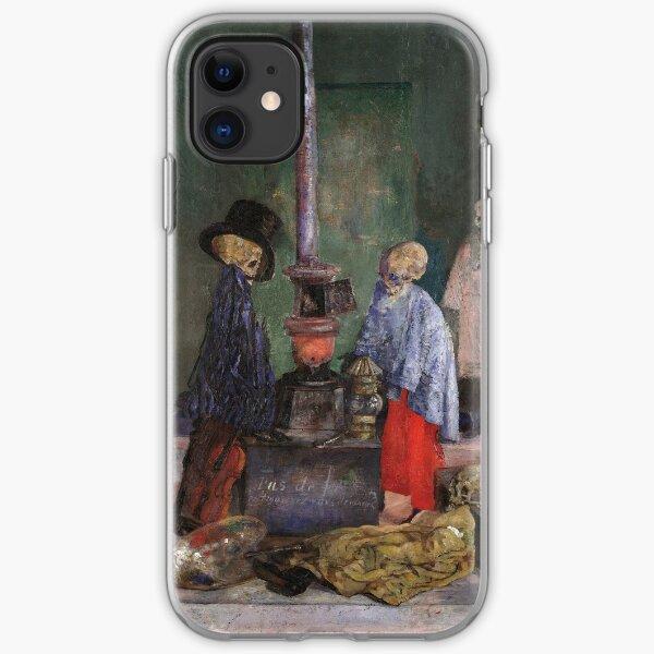 James Ensor - Skeletons Warming Themselves iPhone Soft Case