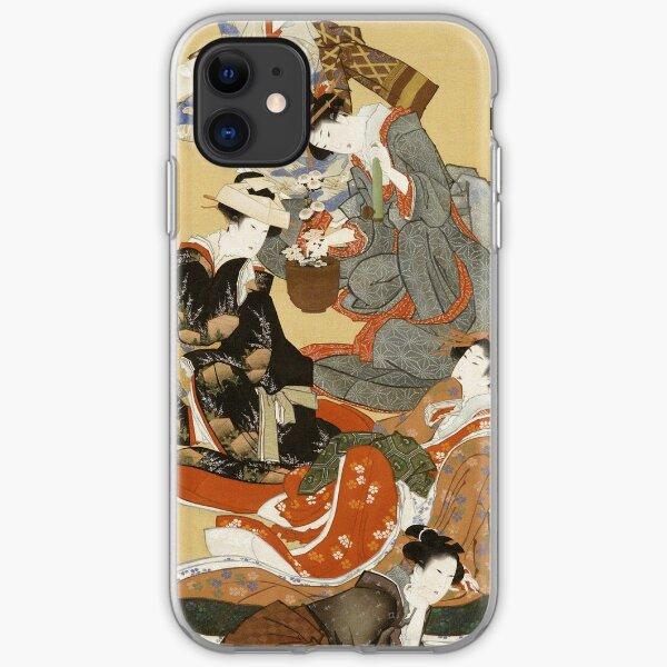 Hokusai Katsushika - Five Beautiful Women iPhone Soft Case