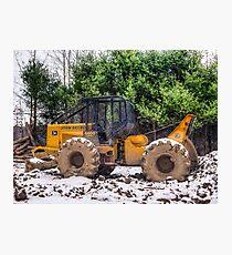 Logging Equipment January 2007 Photographic Print