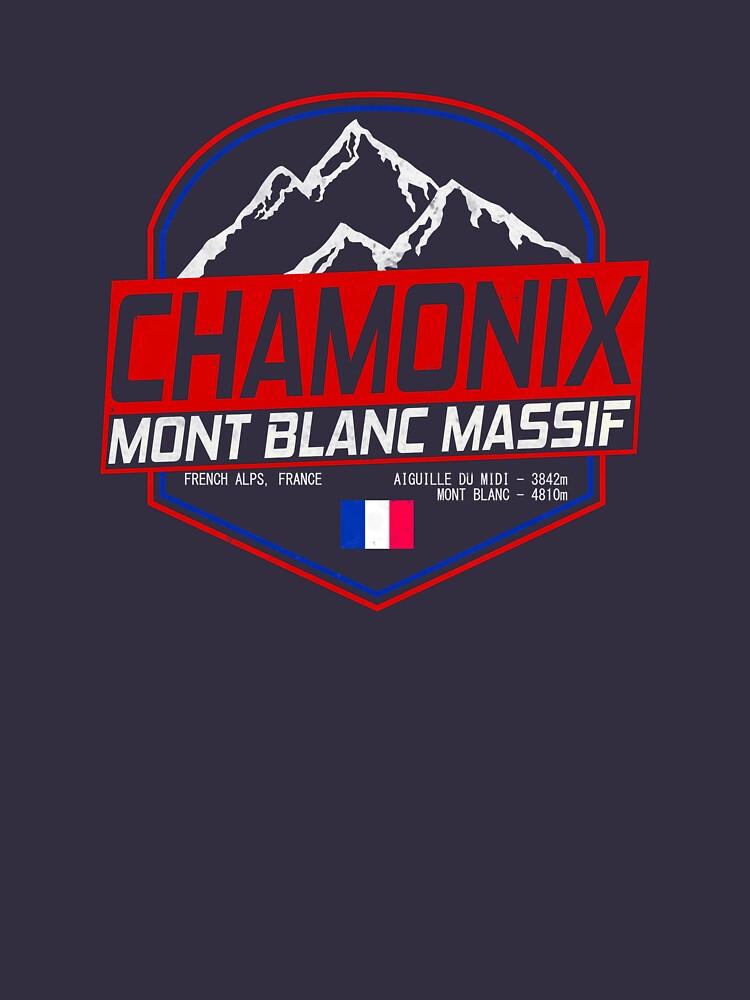 Retro Ski Chamonix Mont Blanc France Skiing and Mountain Biking Paradise by chriswilson111