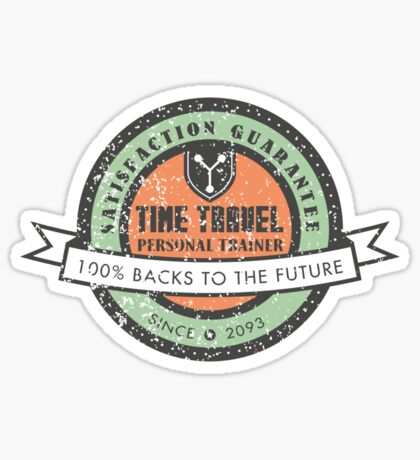 Time Travel Personal Trainer Sticker