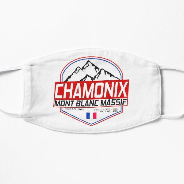 Retro Ski Chamonix Mont Blanc France Skiing and Mountain Biking Paradise Flat Mask