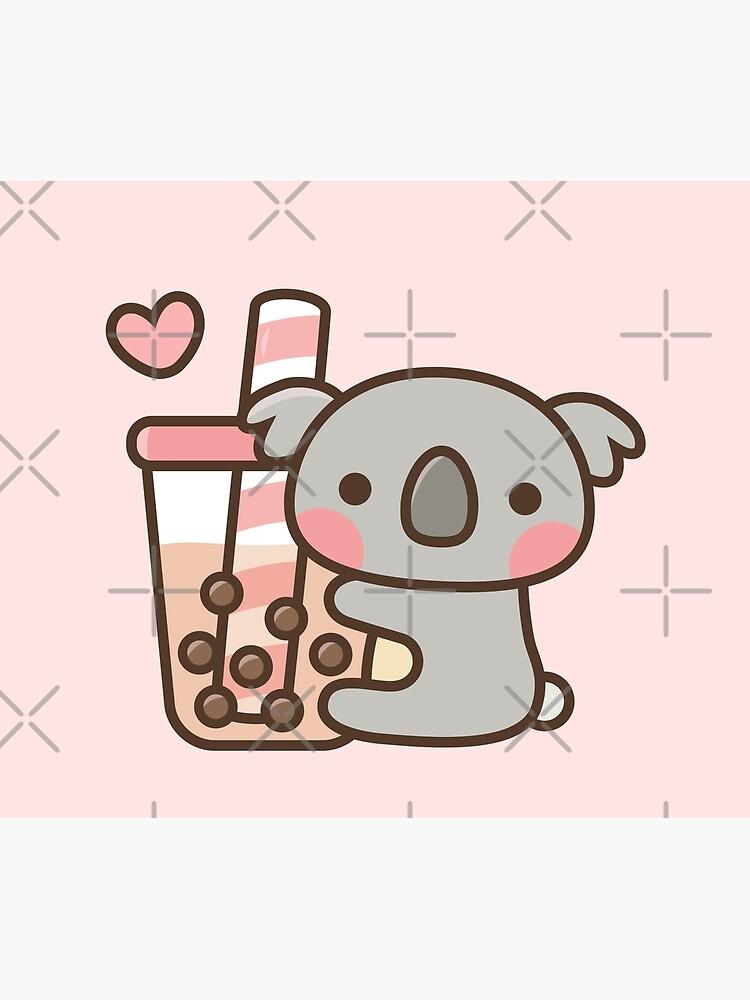 Lindo oso de koala y té de burbujas de rustydoodle