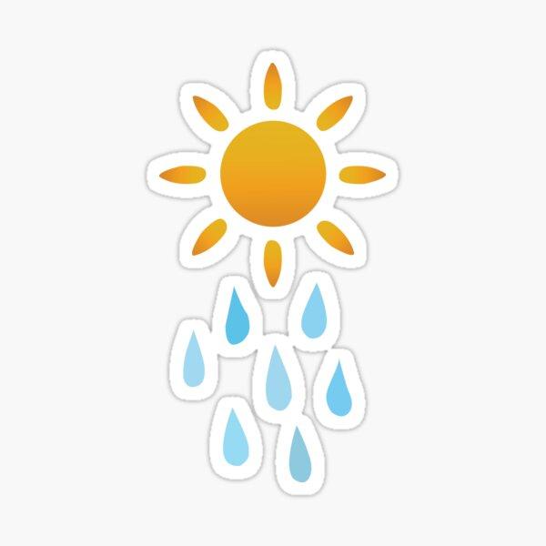 Raining Sun Sticker