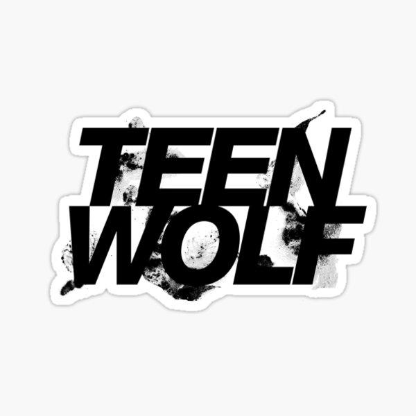 Lobo adolescente Pegatina