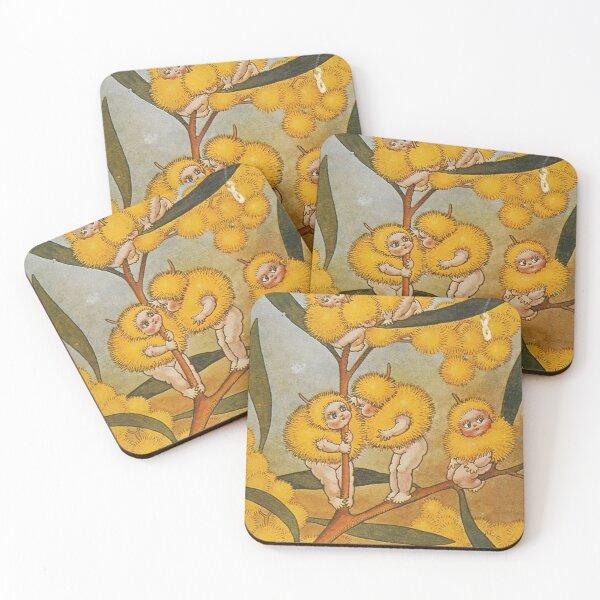 Wattle Babies - May Gibbs Print  Coasters (Set of 4)