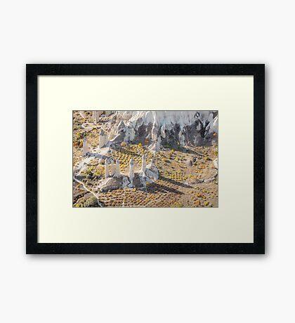 Shadows in Cappadocia Framed Print