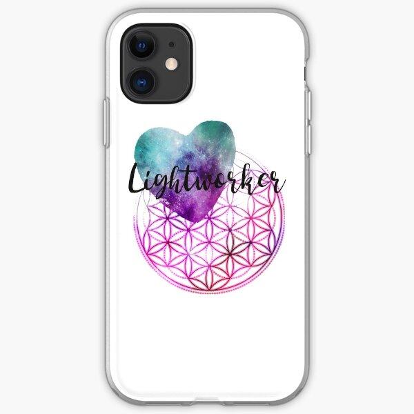 Blume des Lebens - Heilige Geometrie - Lichtarbeiter-Kosmisches Herz iPhone Flexible Hülle