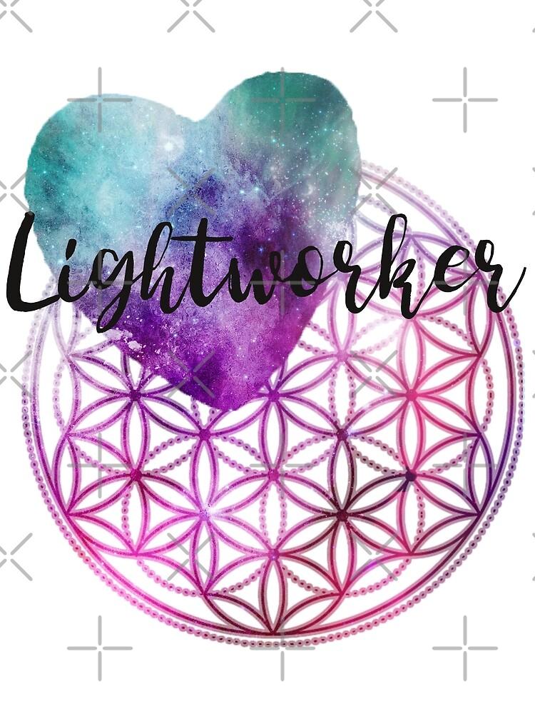 Blume des Lebens - Heilige Geometrie - Lichtarbeiter-Kosmisches Herz von ChristaFossati