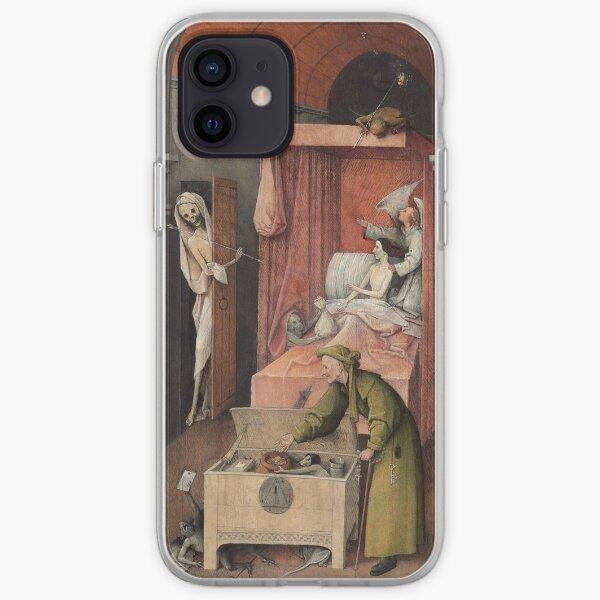 Hieronymus Bosch - Hieronymus Bosch - Death And The Miser. 1485 iPhone Soft Case