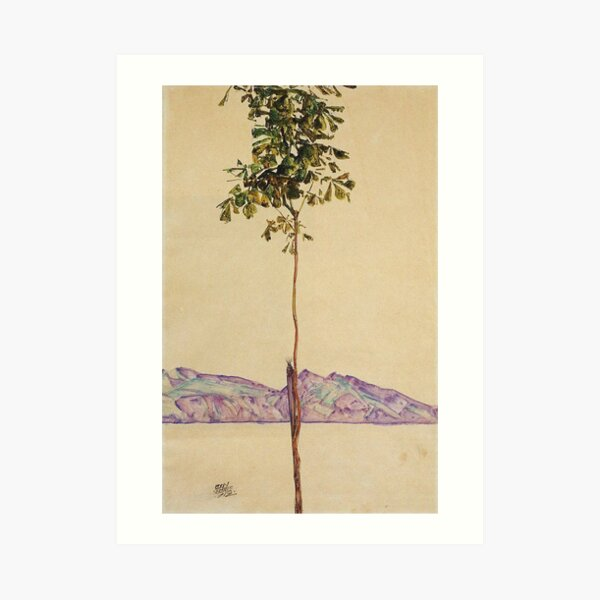 Egon Schiele - Little Tree Chestnut Tree At Lake Constance 1912 Art Print