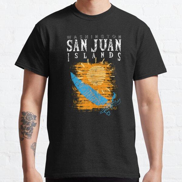 San Juan Islands, Washington Sailing Catamaran Sailboat Beam Reach Orange WA Classic T-Shirt