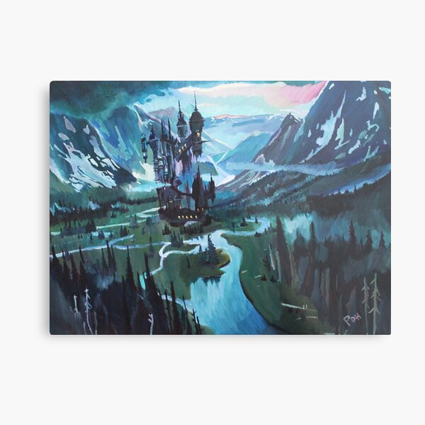 A Valley in Wallachia Metal Print