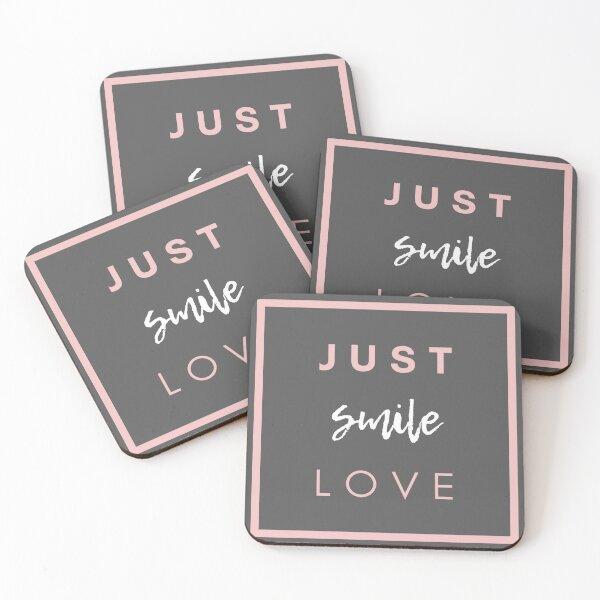 JUST SMILE LOVE Coasters (Set of 4)