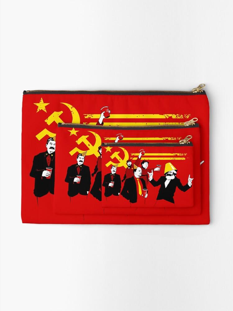 Alternate view of The Communist Party (original) Zipper Pouch