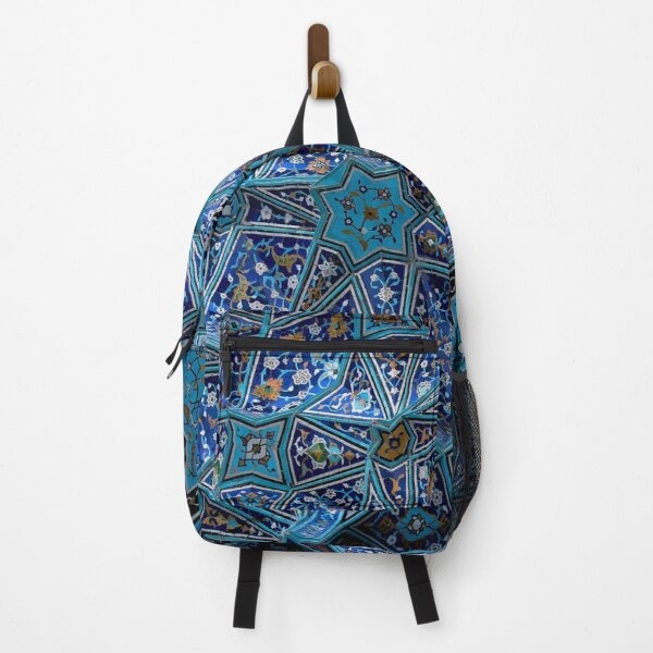 Persian Asian Architecture Blue Pattern Backpack