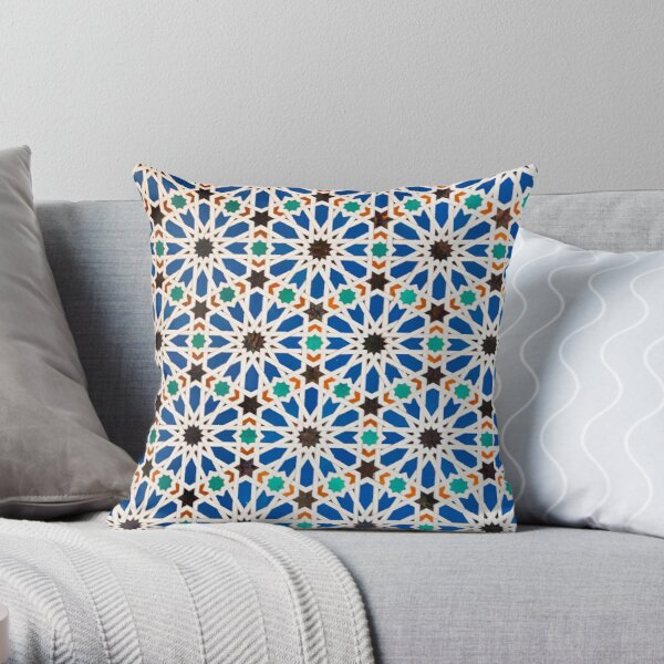 Seville Mosaic - totes, cases, prints Throw Pillow