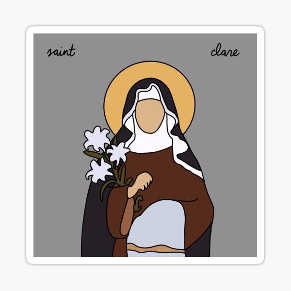 Saint Clare Sticker
