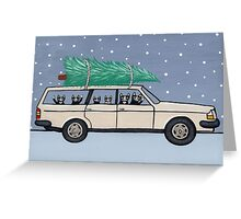 Christmas Tree Cats Greeting Card