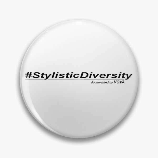 """Hashtag Stylistic Diversity"" by Garage Montage Pin"