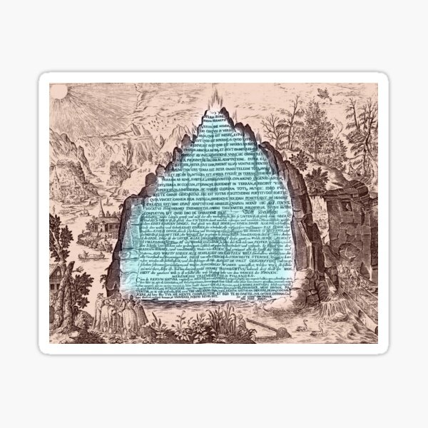 Emerald Tablet - Monument to Mankind Sticker