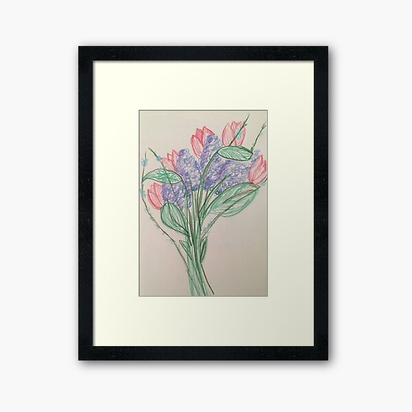 A Bouquet of Flowers for You Framed Art Print