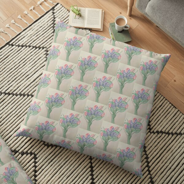 A Bouquet of Flowers for You Floor Pillow