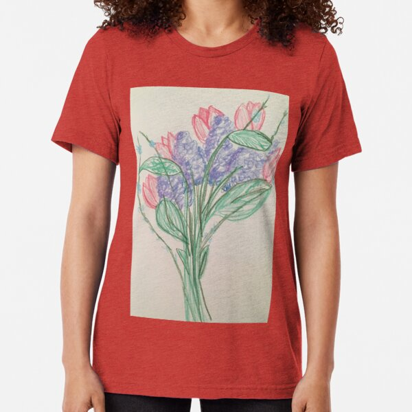 A Bouquet of Flowers for You Tri-blend T-Shirt