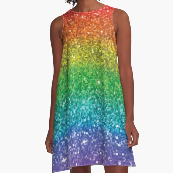 Sparkly Rainbow A-Line Dress