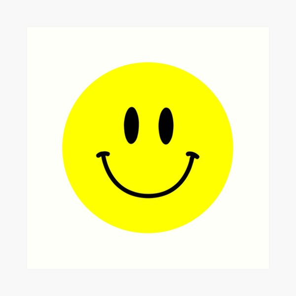 Acid Smiley Face Yellow Happy Face Emoji Art Print By Adamnicolson Redbubble