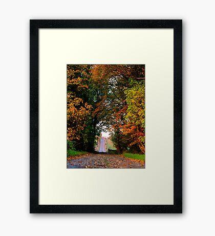 Goodbye to Autumn Framed Print
