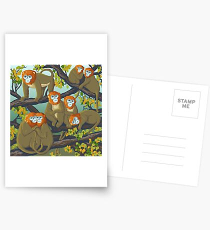 Monkeys Greeting Card