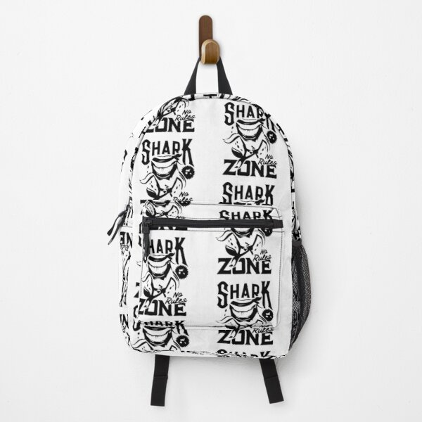 T shirt print with shark animal mascot Backpack