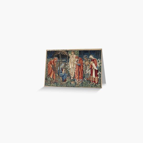 Edward Burne - Jones - The Adoration Of The Magi Greeting Card