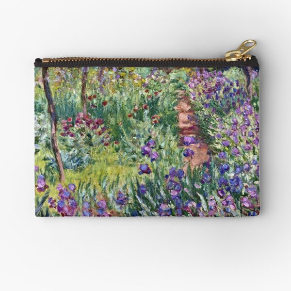 Claude Monet - The Artist S Garden In Giverny 1900 Zipper Pouch
