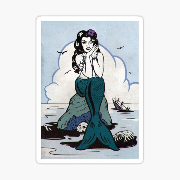 Evil mermaid Sticker