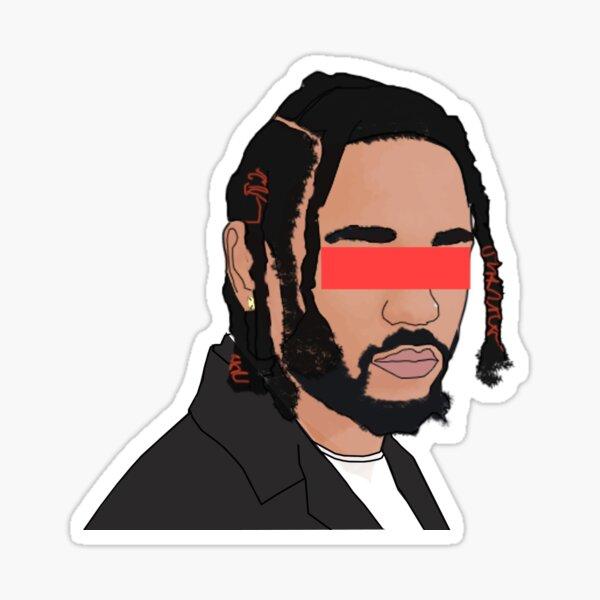 Kendrick Lamar Face art Sticker