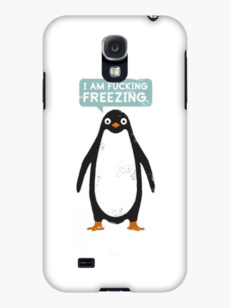 Penguin: Im Fucking Freezing - Iphone Case  by sullat04
